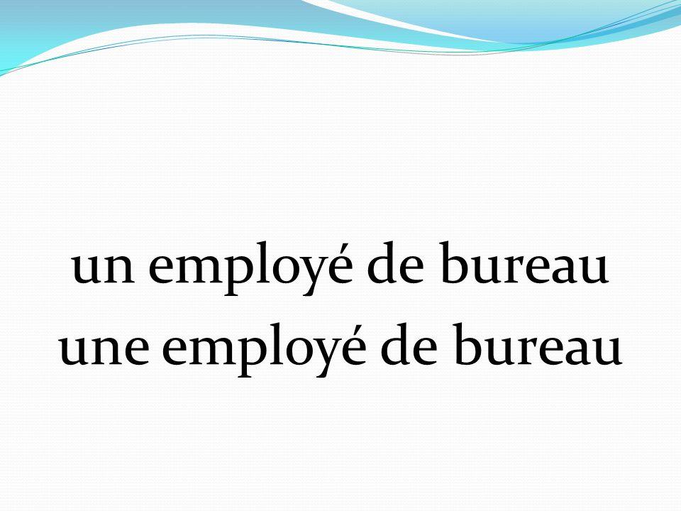 un employé de bureau une employé de bureau