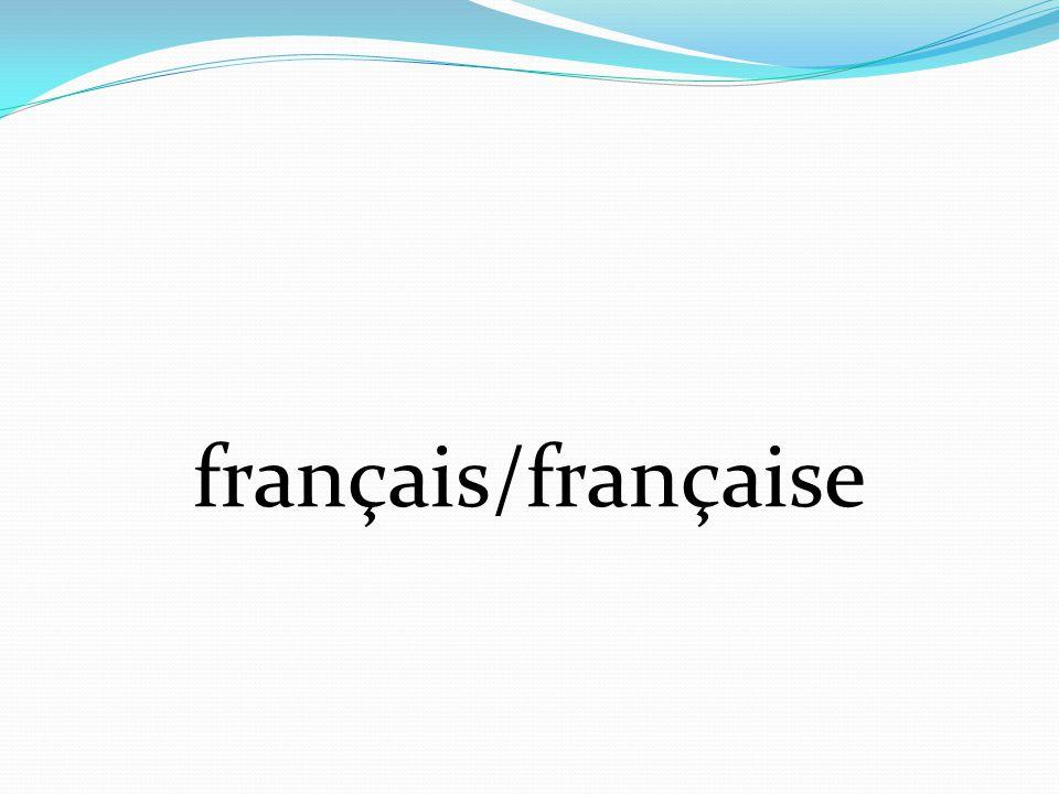 français/française