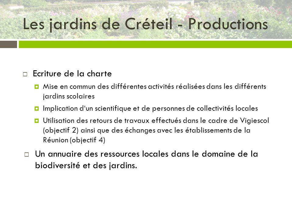 Les jardins de Créteil - Productions