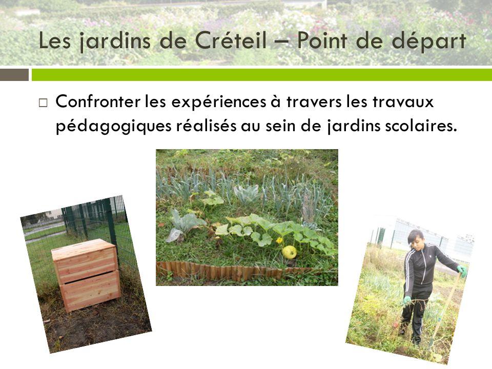 Les jardins de Créteil – Point de départ