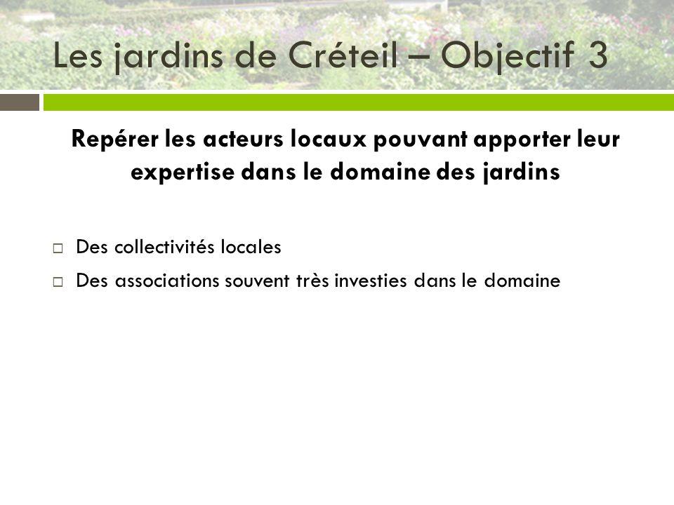 Les jardins de Créteil – Objectif 3
