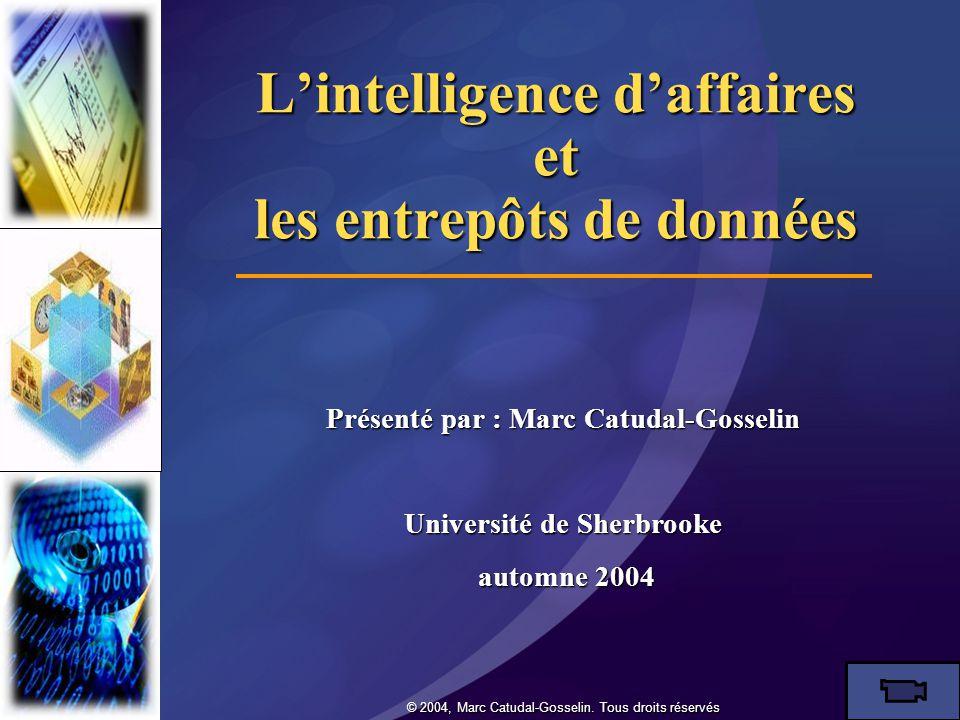 L'intelligence d'affaires et les entrepôts de données