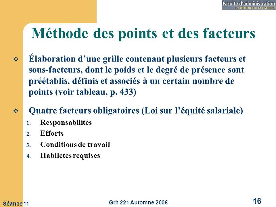 Méthode des points et des facteurs