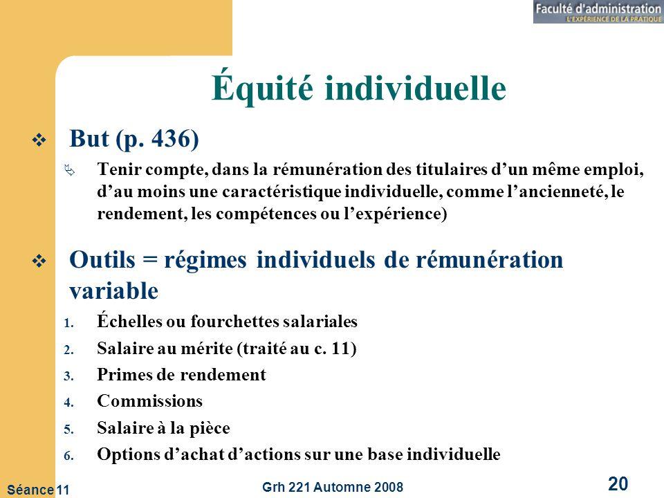Équité individuelle But (p. 436)