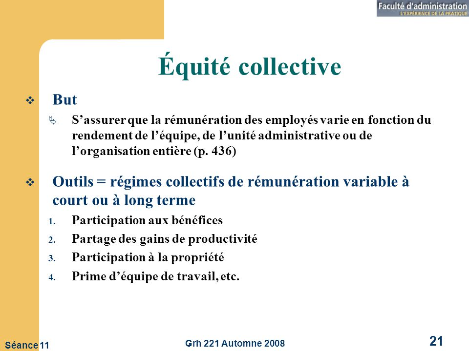 Équité collective But.