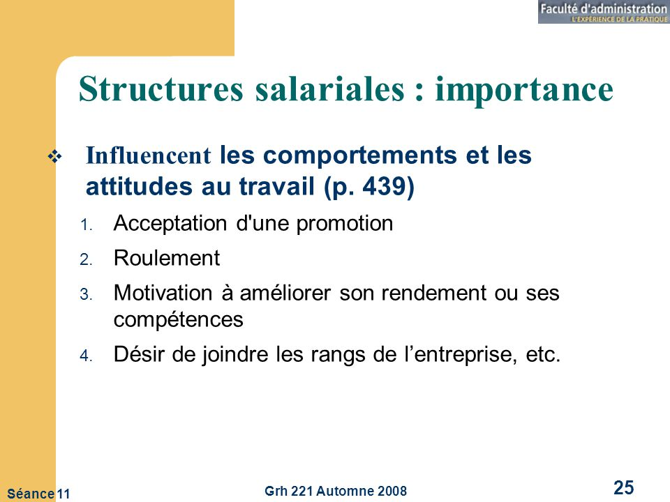 Structures salariales : importance