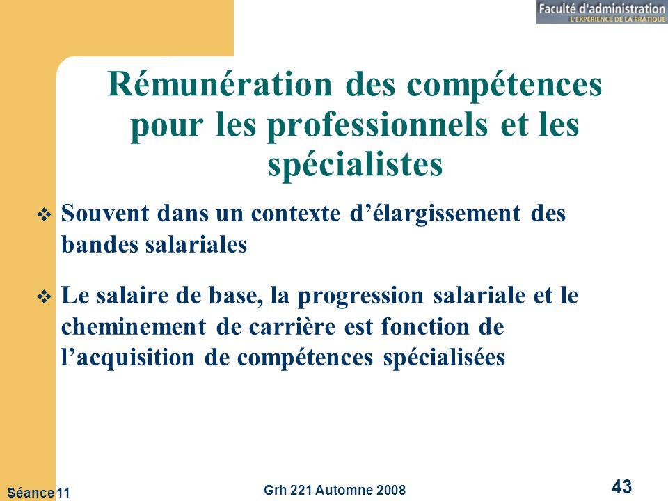 Rémunération des compétences pour les professionnels et les spécialistes
