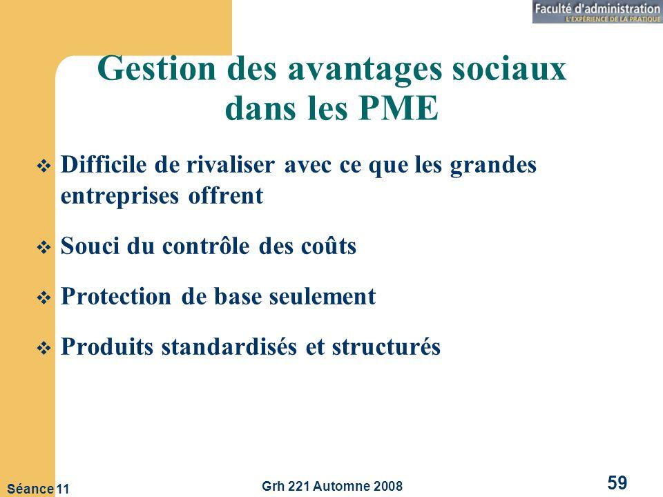 Gestion des avantages sociaux dans les PME