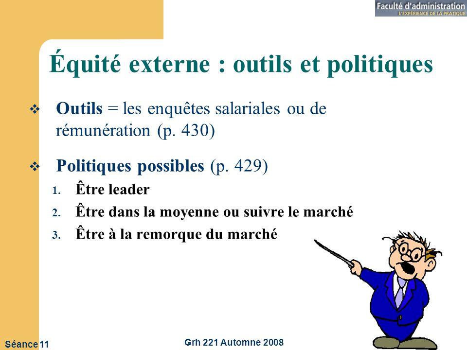 Équité externe : outils et politiques