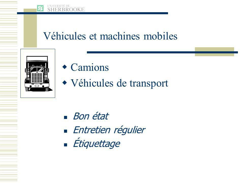 Véhicules et machines mobiles