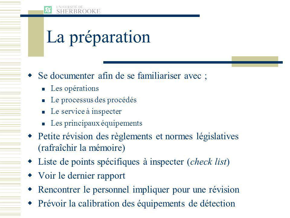 La préparation Se documenter afin de se familiariser avec ;