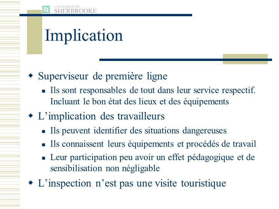 Implication Superviseur de première ligne