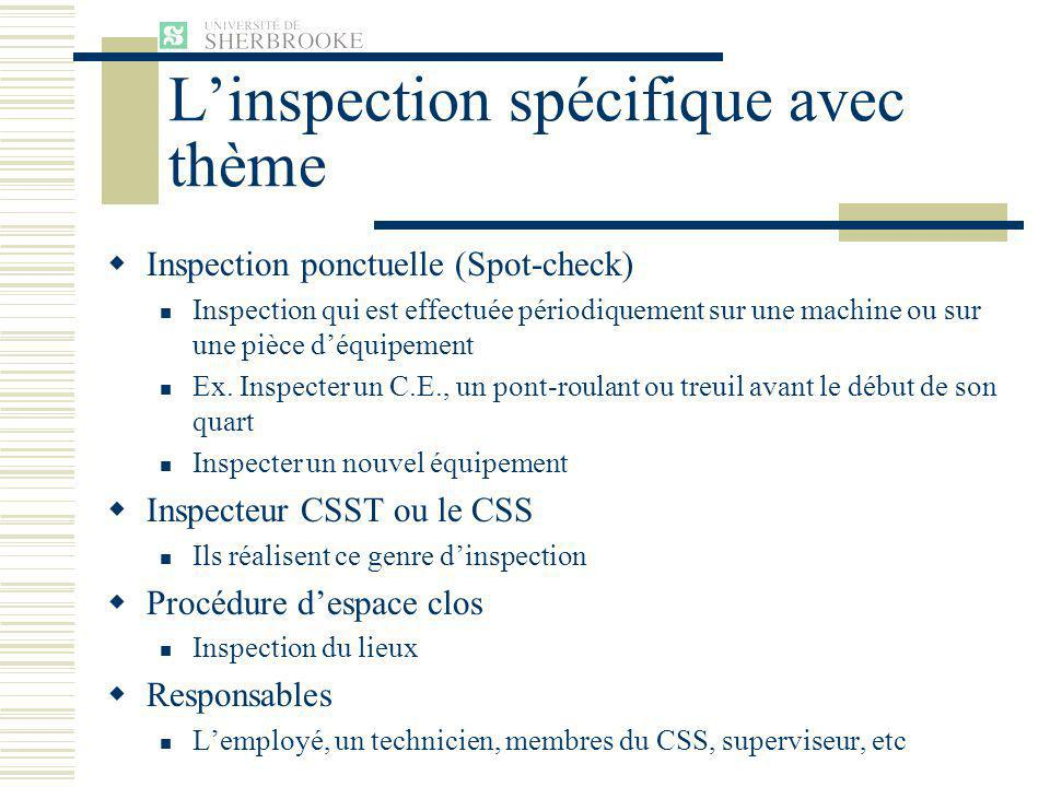 L'inspection spécifique avec thème