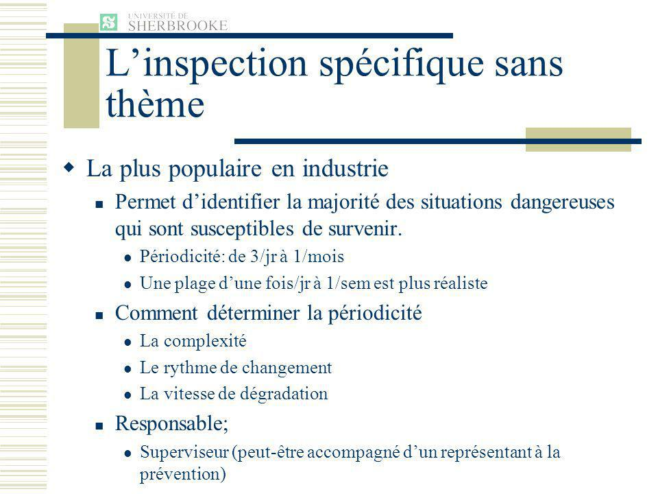 L'inspection spécifique sans thème