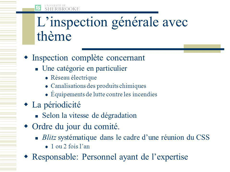L'inspection générale avec thème