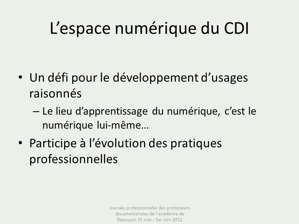 L'espace numérique du CDI