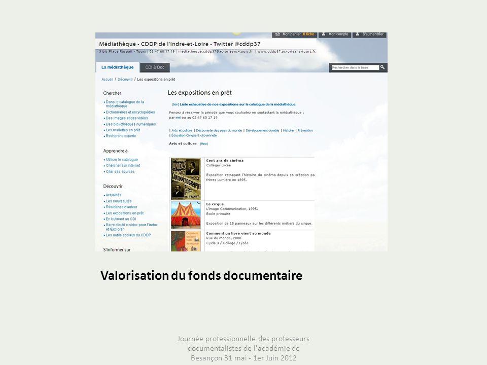 Valorisation du fonds documentaire