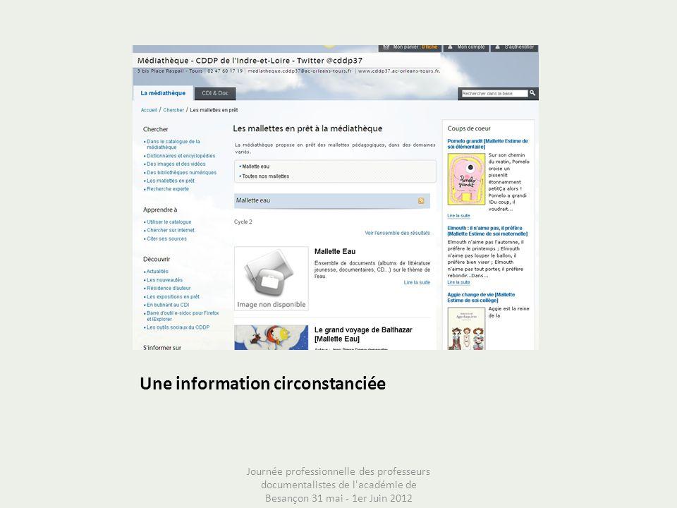 Une information circonstanciée
