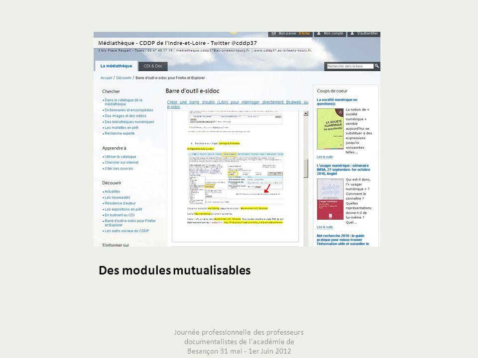 Des modules mutualisables