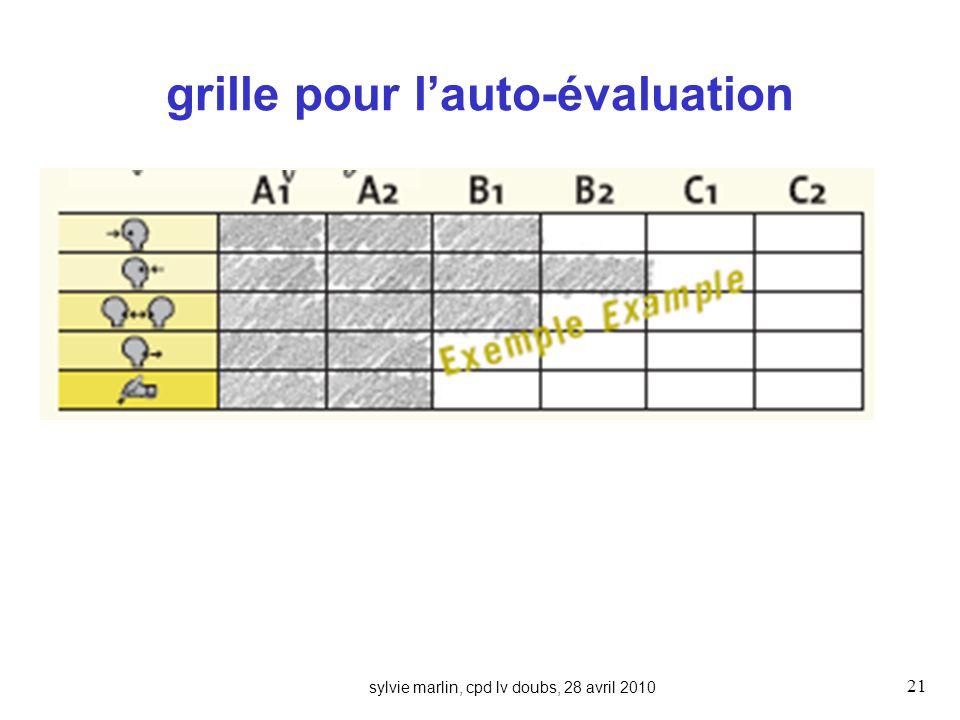 grille pour l'auto-évaluation