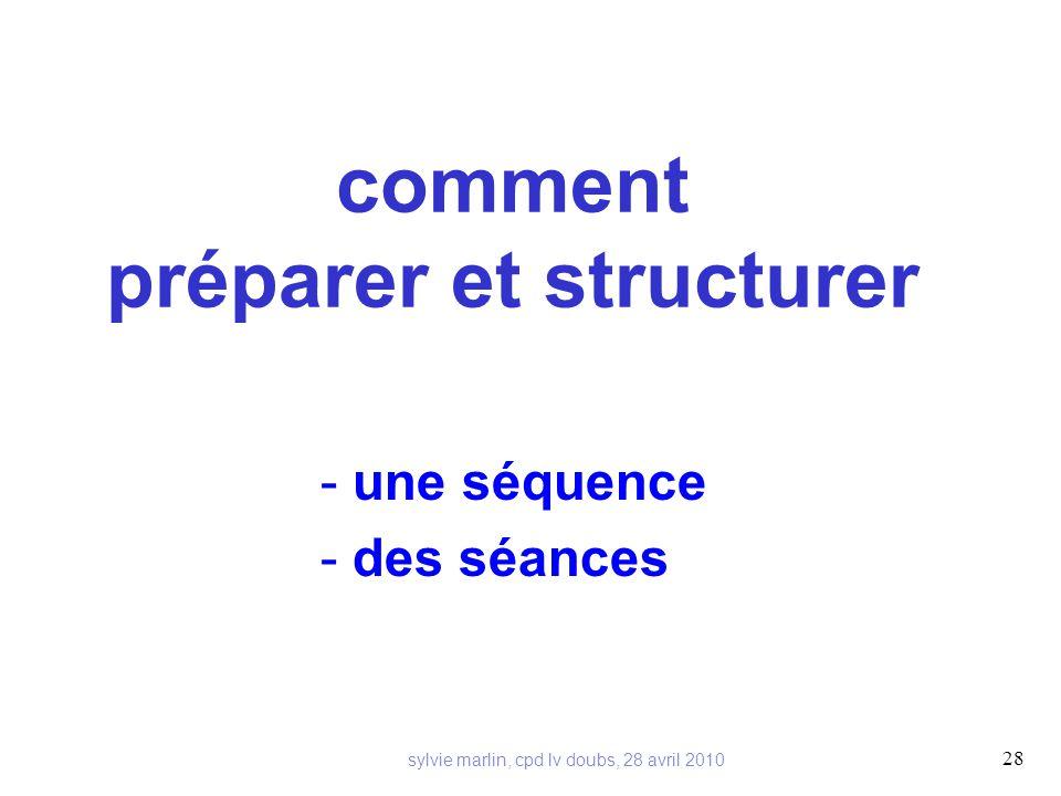 comment préparer et structurer