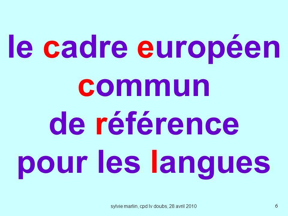 le cadre européen commun de référence pour les langues