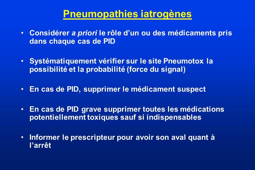 Pneumopathies iatrogènes