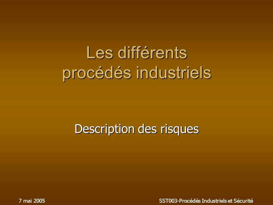 Les différents procédés industriels