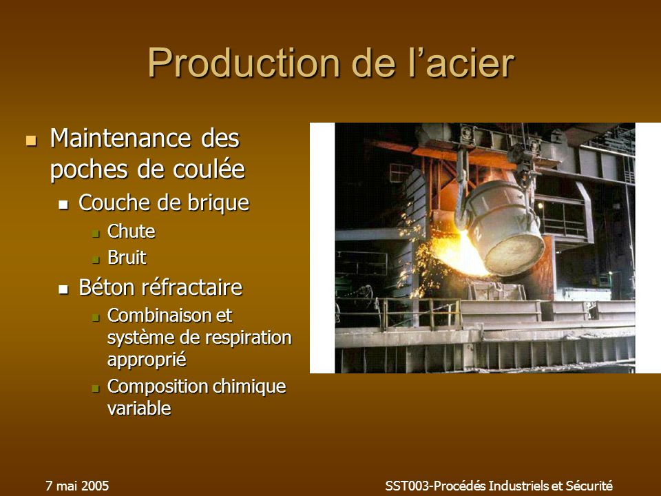 SST003-Procédés Industriels et Sécurité