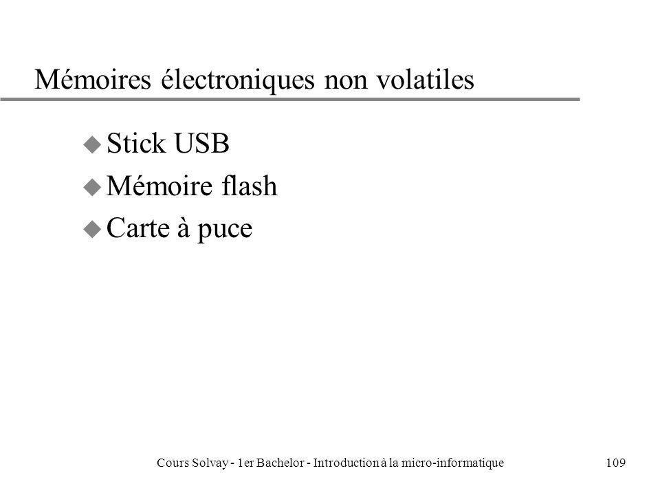 Mémoires électroniques non volatiles