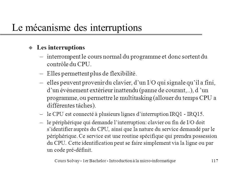 Le mécanisme des interruptions