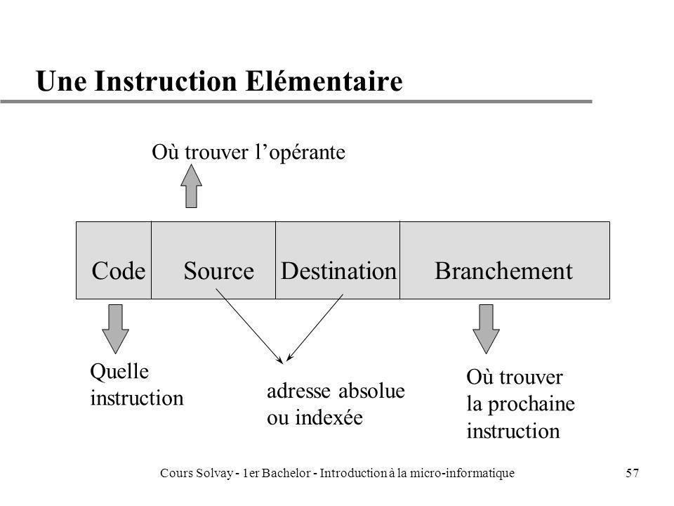 Une Instruction Elémentaire
