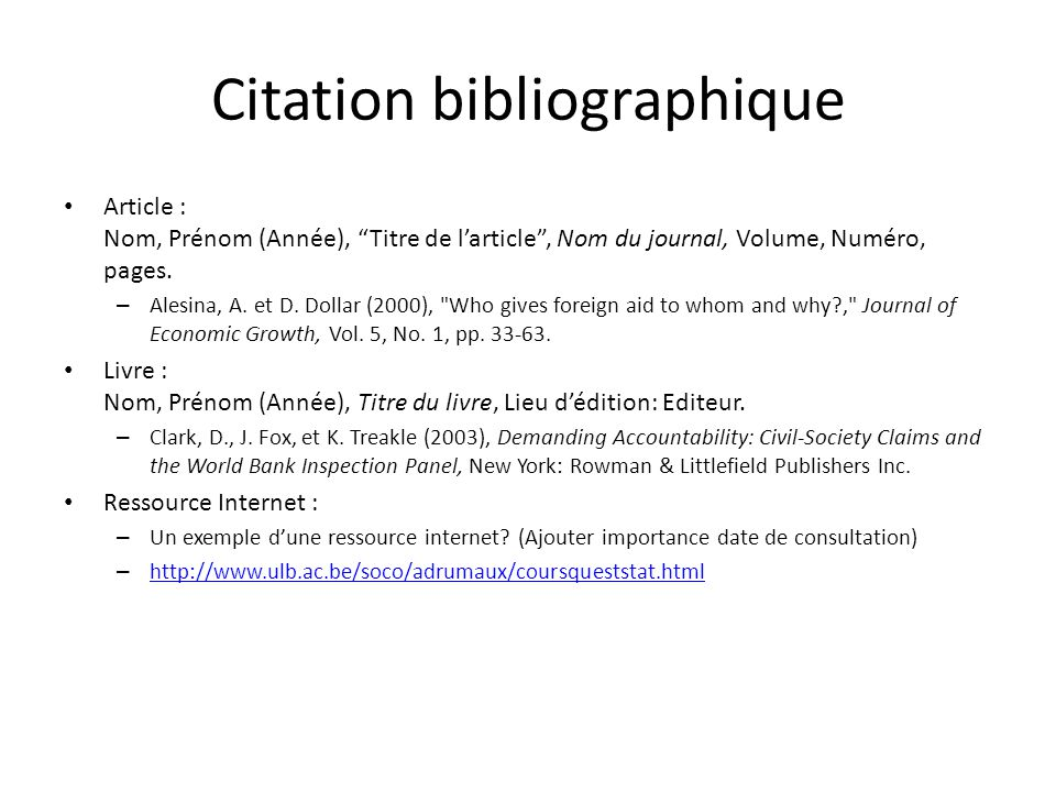 Citation bibliographique