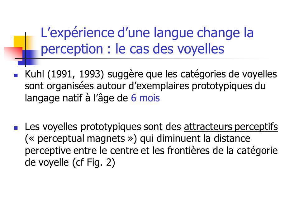 L'expérience d'une langue change la perception : le cas des voyelles
