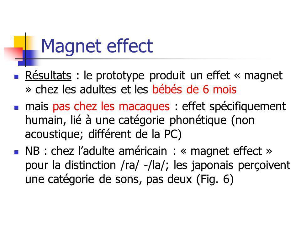 Magnet effect Résultats : le prototype produit un effet « magnet » chez les adultes et les bébés de 6 mois.