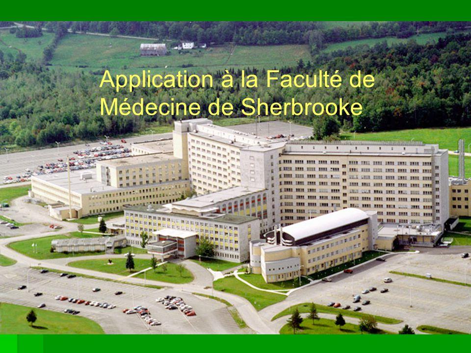 Application à la Faculté de Médecine de Sherbrooke