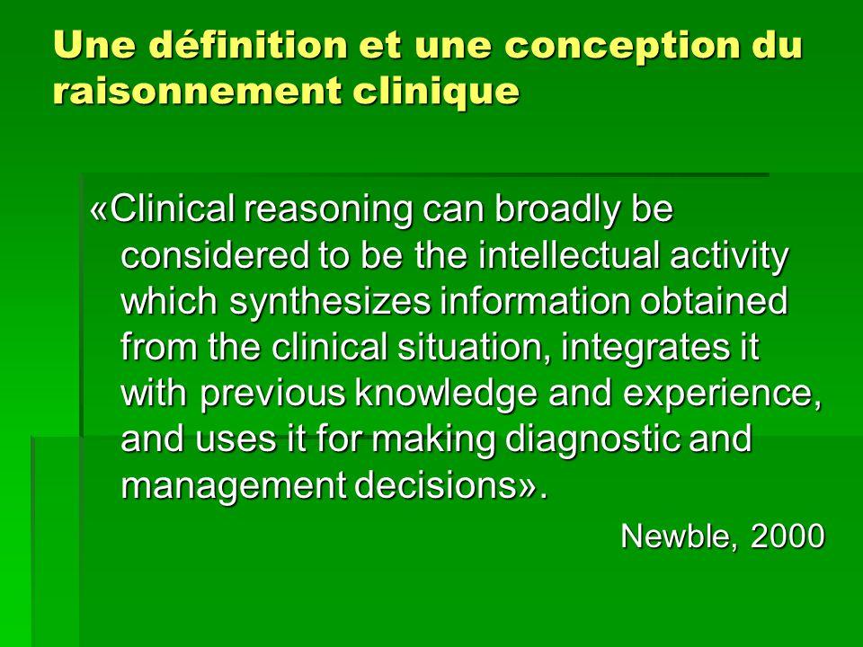 Une définition et une conception du raisonnement clinique