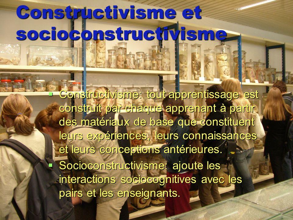 Constructivisme et socioconstructivisme