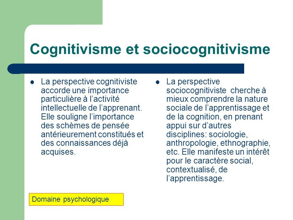 Cognitivisme et sociocognitivisme