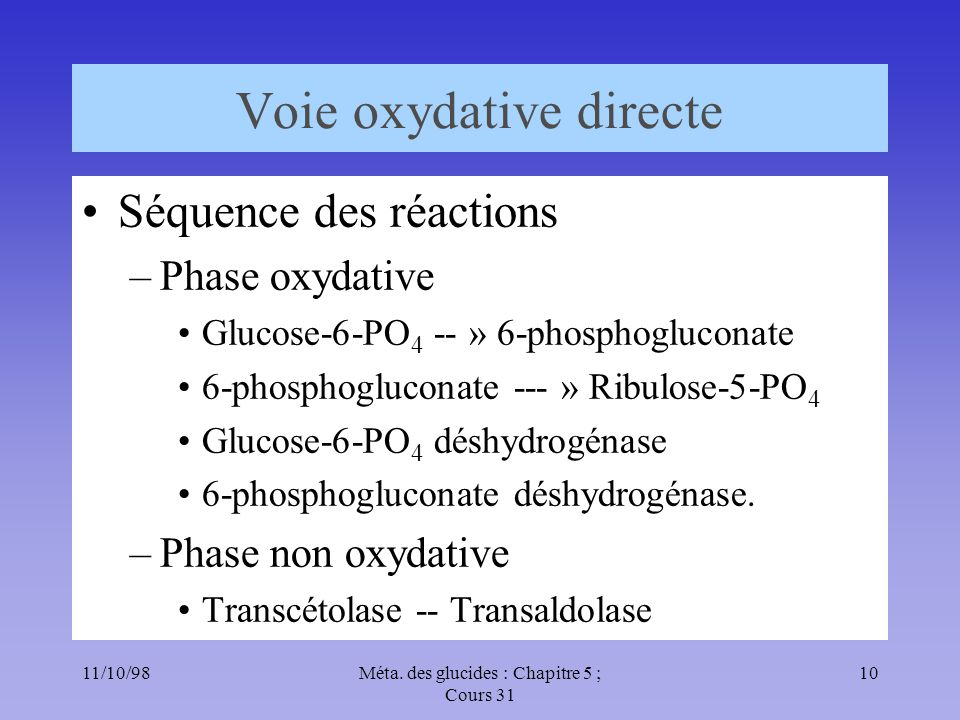 Voie oxydative directe