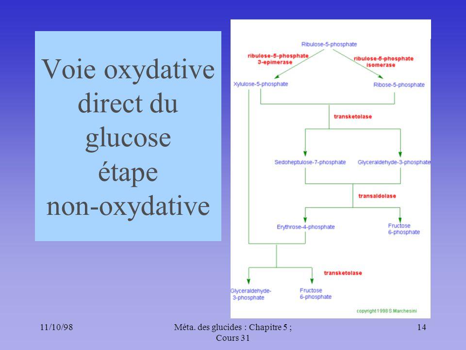 Voie oxydative direct du glucose étape non-oxydative