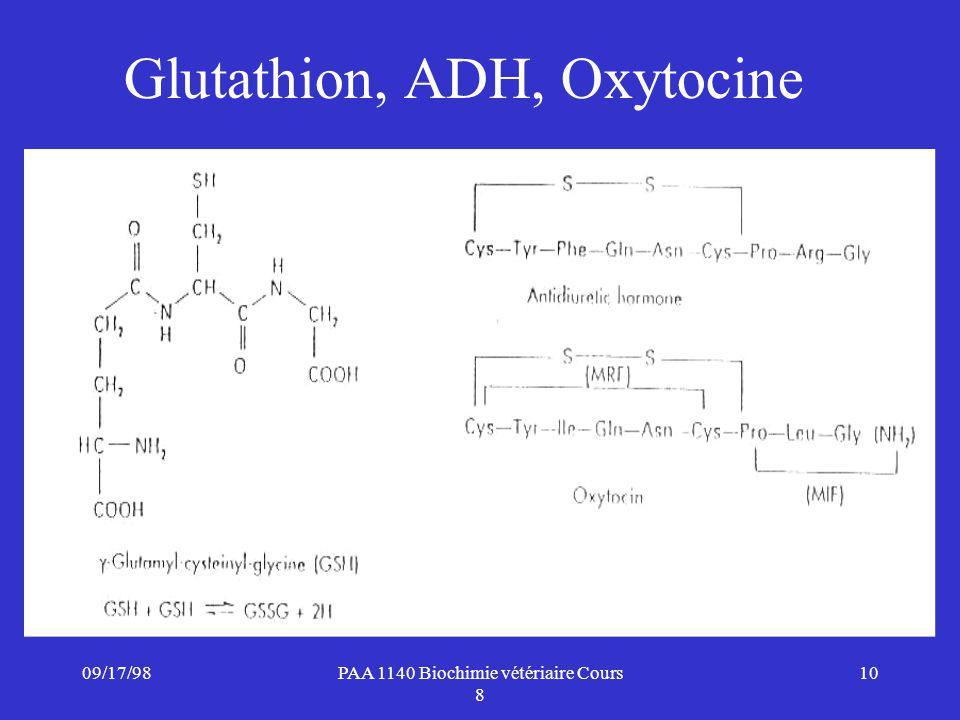 Glutathion, ADH, Oxytocine