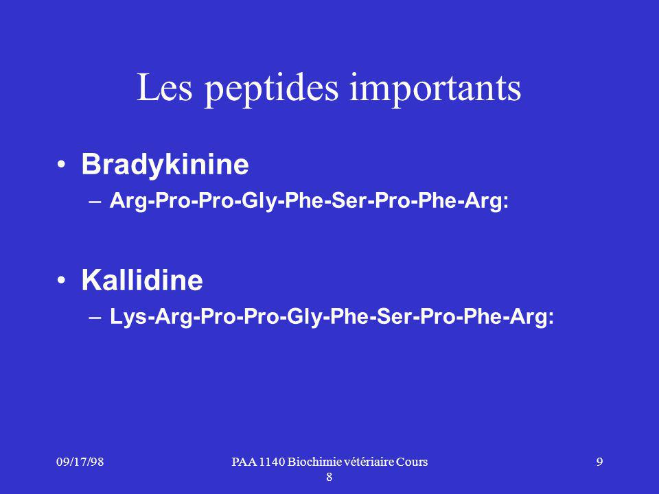Les peptides importants