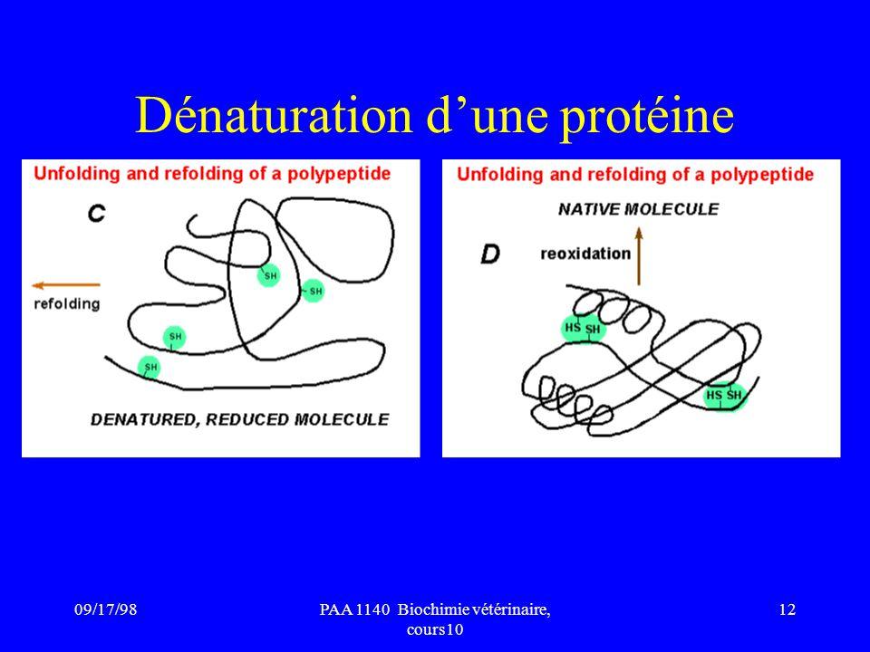Dénaturation d'une protéine
