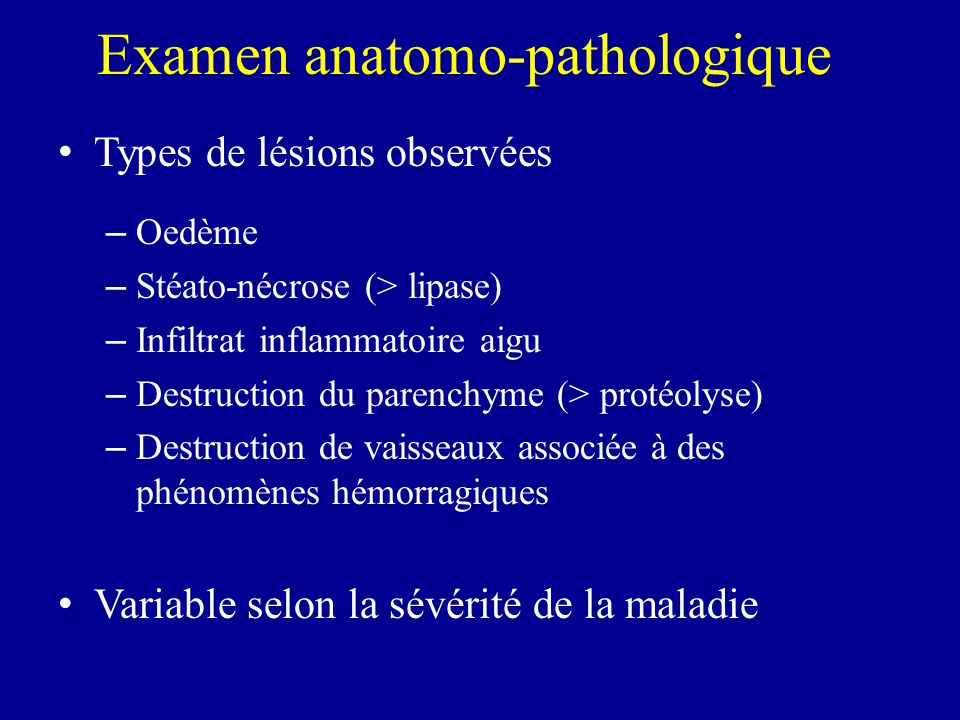 Examen anatomo-pathologique