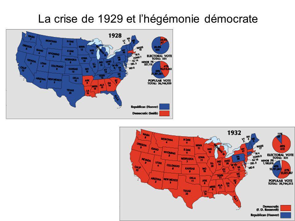 La crise de 1929 et l'hégémonie démocrate