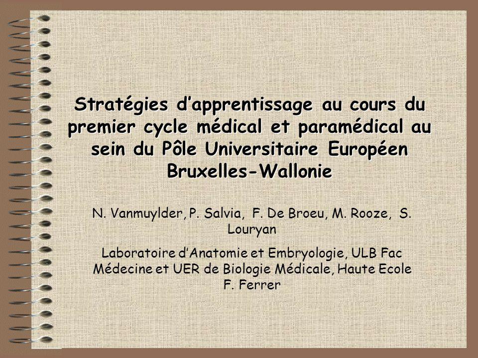 N. Vanmuylder, P. Salvia, F. De Broeu, M. Rooze, S. Louryan