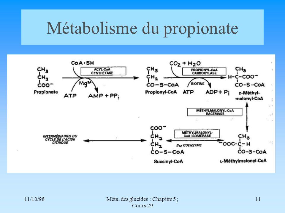 Métabolisme du propionate