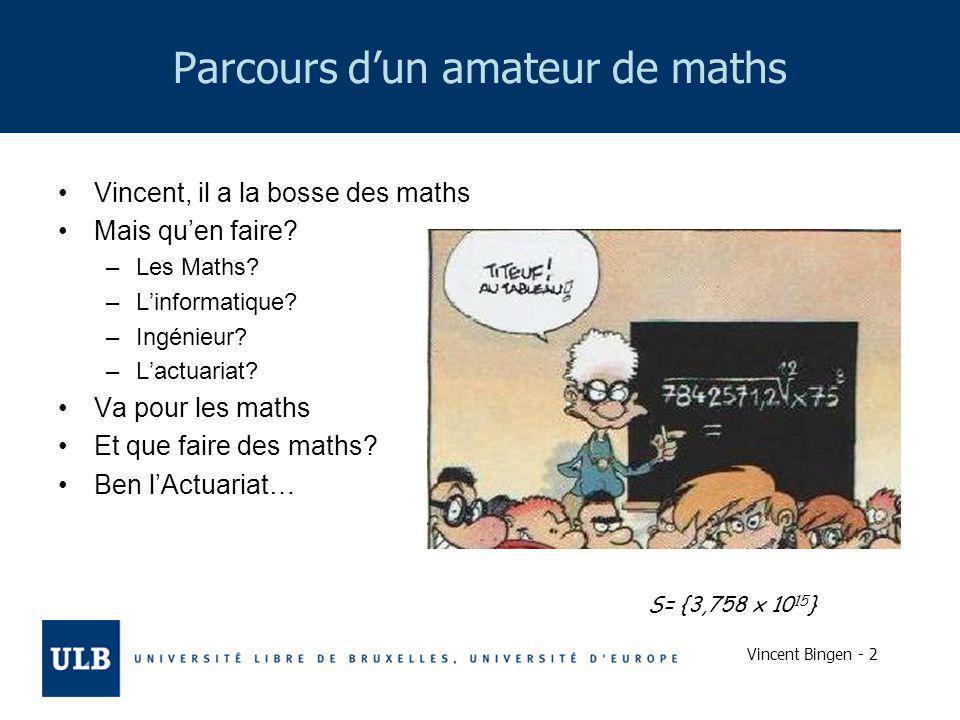 Parcours d'un amateur de maths