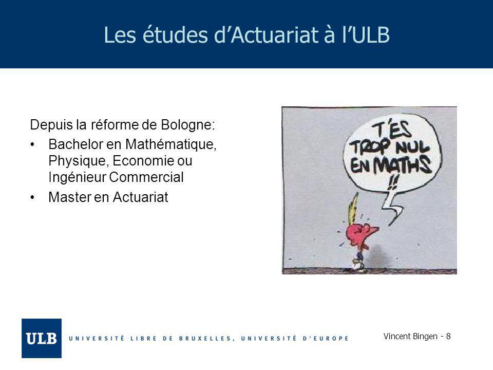 Les études d'Actuariat à l'ULB